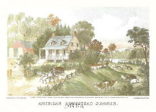 American Homestead Summer poster print by  Currier Ives