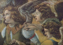 Angels (Detail From The Coronation) poster print by Sandro Botticelli