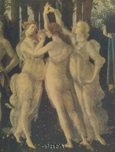 Three Graces poster print by Sandro Botticelli