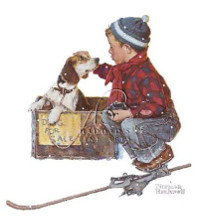 Boy Meets His Dog poster print by Norman Rockwell