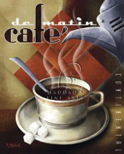 Cafe De Matin poster print by Michael L Kungl