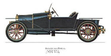 Bugatti 1910 poster print by Antique -Anon Cars