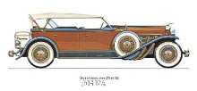 Dusenberg 1929 poster print by Antique -Anon Cars