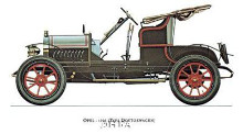 Opel 1909 poster print by Antique -Anon Cars