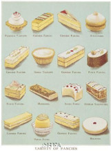 Variety Of Fancies poster print by Pastries -Anon Cakes