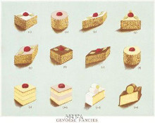Genoese Fancies poster print by Pastries -Anon Cakes