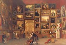Gallery Of The Louvre poster print by Samuel Morse