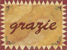Grazie poster print by Gayle Bighouse