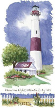 Absecon Light Lighthouse poster print by Kim Attwooll