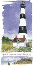 Bodie Island Lighthouse poster print by Kim Attwooll