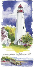 Sandy Hook Lighthouse poster print by Kim Attwooll