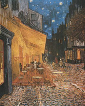 Open Air Cafe poster print by Vincent van Gogh