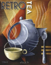Retro Tea poster print by Michael L Kungl