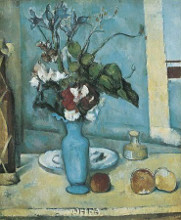 Blue Vase poster print by Paul Cezanne