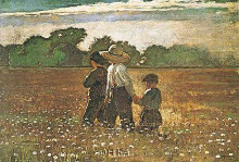 In The Mowing poster print by Winslow Homer