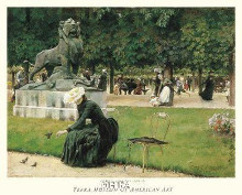 In The Luxembourg (Garden), 1889 poster print by Charles Curran
