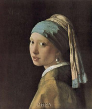 Maiden With A Pearl poster print by Jan Vermeer
