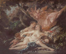 Jupiter In The Guise Of Diana poster print by Francois Boucher