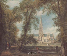 Salisbury Cathedral poster print by John Constable