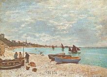 Beach At Sainte-Adresse poster print by Claude Monet