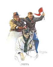 Cheering The Champs poster print by Norman Rockwell
