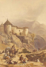 Hill Fort Of Ghulab Sinj poster print by David Roberts