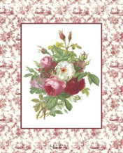 Roses And Toile poster print by Antique Anonymous