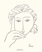 Woman's Face Sketch I poster print by Simin Meykadeh