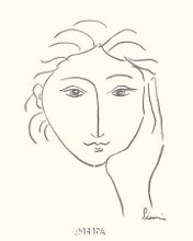 Woman's Face Sketch II poster print by Simin Meykadeh