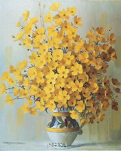 Yellow Bouquet poster print by  Rouviere