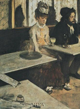 Absinth poster print by Edgar Degas