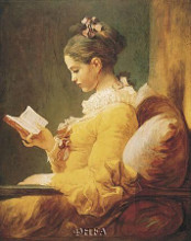 Young Girl Reading poster print by Jean-Honore Fragonard