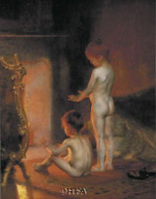 After The Bath, 1890 poster print by Paul Peel