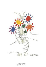 Bouquet With Hands poster print