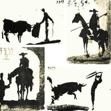 Bullfight Set (Set Of Four) poster print by Pablo Picasso