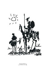 Don Quixote, 1955 poster print by Pablo Picasso