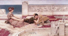 Love's Votaries poster print by Sir Lawrence Alma-Tadema