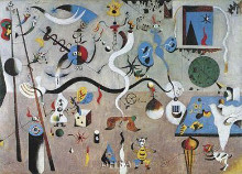 Carnival Of Harlequin poster print by Joan Miro