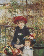 On The Terrace poster print by Pierre-Auguste Renoir