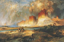 Cliffs Of Upper Colorado River poster print by Thomas Moran