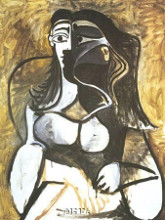 Woman In An Armchair poster print by Pablo Picasso