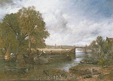 View On The Stour Near Dedham poster print by John Constable