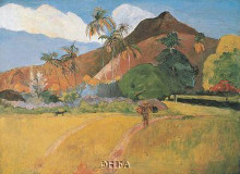 Tahitian Landscape, 1891 poster print by Paul Gauguin