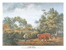 American Farm Scenes poster print by  Currier Ives