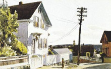 Adam's House poster print by Edward Hopper