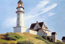 Lighthouse At Two Lights poster print by Edward Hopper