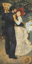 Dance In The Country poster print by Pierre-Auguste Renoir