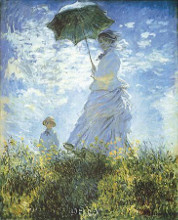 Madame Monet And Her Son poster print by Claude Monet
