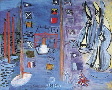 Basin At Deauville poster print by Raoul Dufy