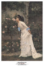 Girl And Roses poster print by Auguste Toulmouche